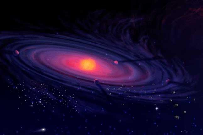 Солнечная система, иллюстрация, протосолнце, протопланеты, формирование, образование
