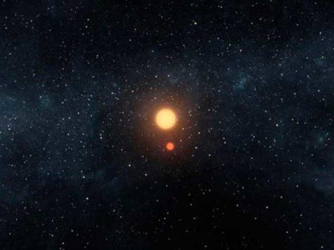 космос, вселенная, две звезды, два Солнца, НАСА, NASA, иллюстрация