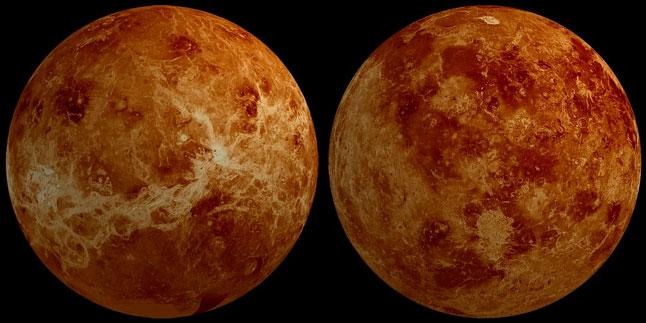 Венера, планета, полушария, две стороны, поверхность, рельеф