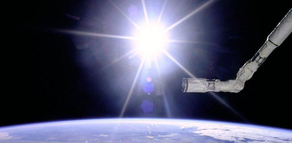 Солнце, космос, орбита Земли, планета, звезда, свет, лучи