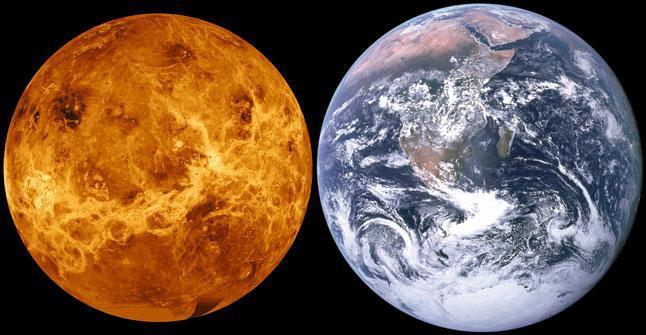 Венера, Земля, планеты, фото, сравнение размеров