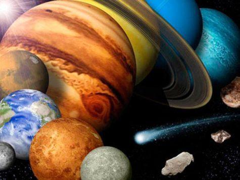 Планеты, Солнечная система, Меркурий, Венера, Земля, Марс, Юпитер, Сатурн, Уран, Нептун, комета, Солнце, звезды, космос