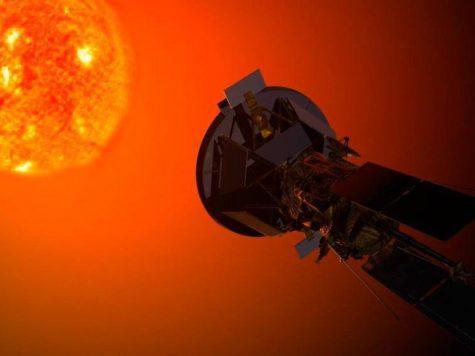 Солнце, звезда, космический аппарат, спутник, космос, иллюстрация