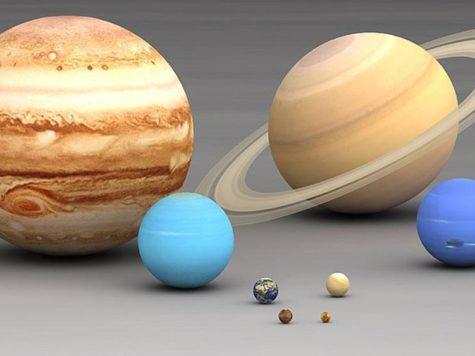 планеты, Солнечная система, размеры, большая, маленькая, Юпитер, Сатурн, Уран, Нептун, Земля, Венера, Марс, Меркурий