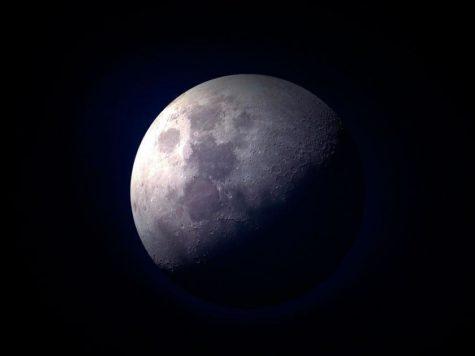 Луна, спутник, сателлит, день, ночь, космос