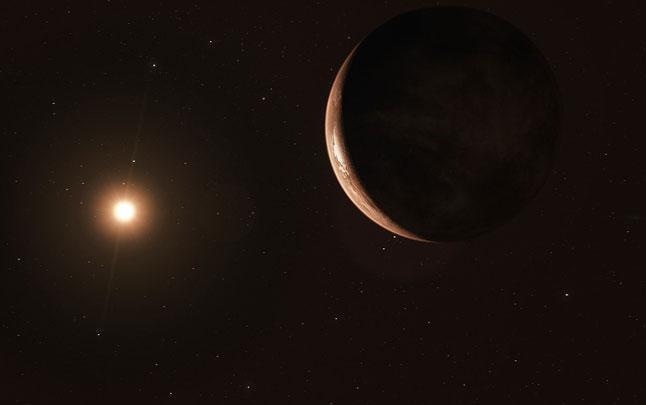экзопланета, звезды, вселенная, космос, Звезда Барнарда b, созвездие Змееносца, иллюстрация, рисунок