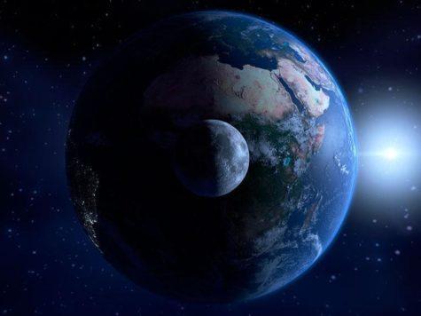 Луна, Земля, Солнце, тень, космос, планета, спутник, звезда, Солнечная система