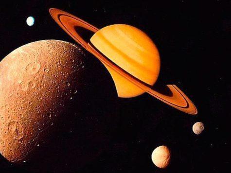Сатурн, планета, газовый гигант, спутники, луны, сателлиты, космос, звезды, NASA, НАСА