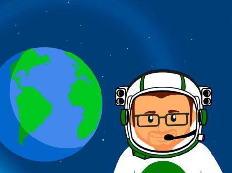 Земля, планета, космос, астронавт, космонавт, скафандр, рисунок, иллюстрация