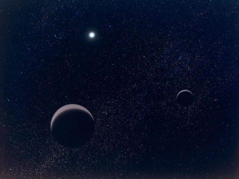 Плутон, Харон, карликовые планеты, спутник, Солнце, Солнечная система, космос, звезды, картинка, рисунок, иллюстрация