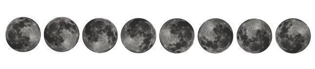 Луна, фазы, положение, расположение