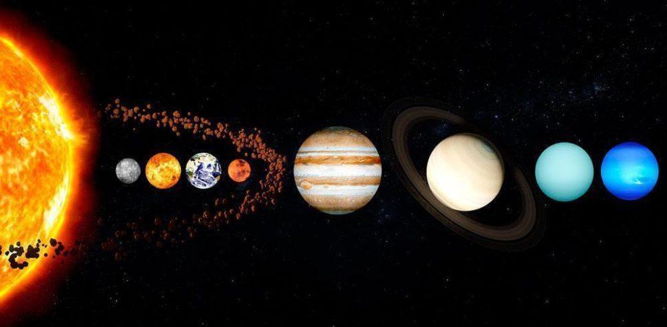 Солнечная система, планетная система, Солнце, звезда, планеты, космические объекты, небесные тела, астрономические объекты, иллюстрация, рисунок