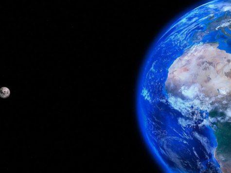 Луна, Земля, планета, спутник, сателлит, орбита, космос, пространство, атмосфера