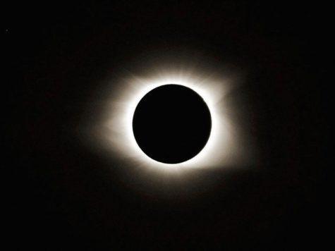 Солнечное затмение, фото, темное небо, Солнце, Луна