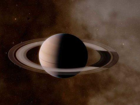 Сатурн, планета, кольца, космос, пространство, Солнечная Система, звезды, рисунок, иллюстрация