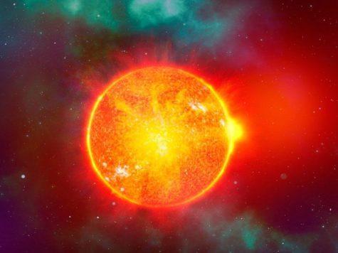 Солнце, звезда, космос, пространство, иллюстрация, рисунок