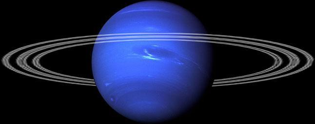 Нептун, фото, планета, газовый гигант, антициклон, Большое тёмное пятно, кольца, иллюстрация