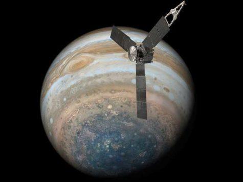 Юпитер, планета, космический аппарат, Юнона, Джуно, исследование, наука, НАСА, NASA, иллюстрация