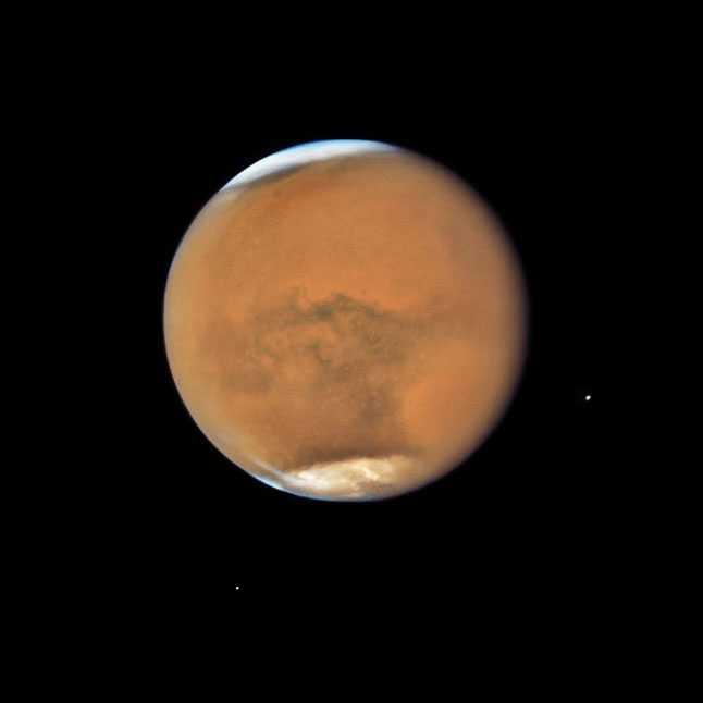 Марс, планета, спутники, сателлиты, Фобос, Деймос, космос, фото, телескоп, Хаббл, Hubble, НАСА, NASA