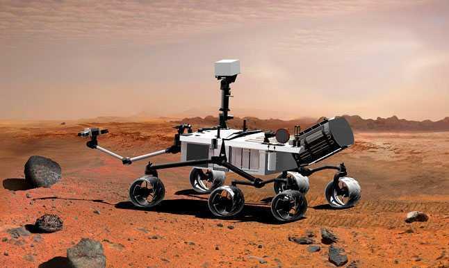 Марсоход, робот, технологии, поверхность Марса, исследования, наука, красная планета, рисунок, иллюстрация