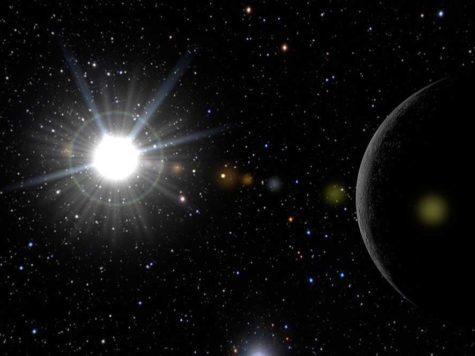 Солнце, космос, первая планета, Меркурий, космос, звезды, Солнечная система, иллюстрация