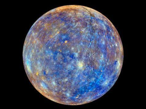 Меркурий, планета, Солнечная система, яркий, цвета, фото