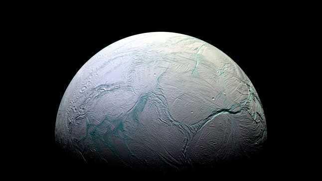 Энцелад, спутник, сателлит, Сатурн, лед, вода, космос, фото, НАСА, Кассини, NASA, Cassini