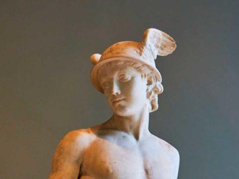 статуя, бюст, Меркурий, бог, древнеримская мифология
