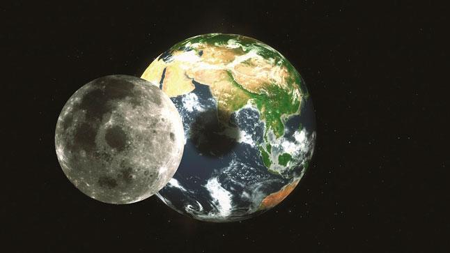 Земля, Луна, затмение, тень, пятно, планета, спутник, космос, иллюстрация