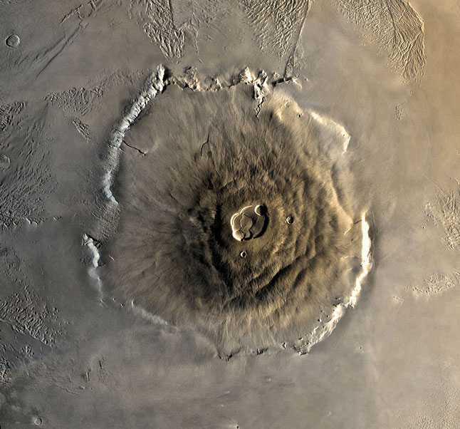 Марс, вулкан Олимп, гора, Olympus Mons, рельеф, изображение, НАСА, NASA