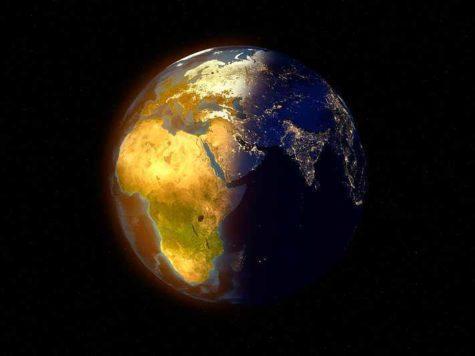Земля, планета, день, ночь, время суток, солнечный свет, космос, иллюстрация