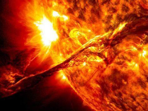 Солнце, звезда, выброс плазмы, ядерные реакции, огонь, жар, фото, изображение, НАСА, NASA