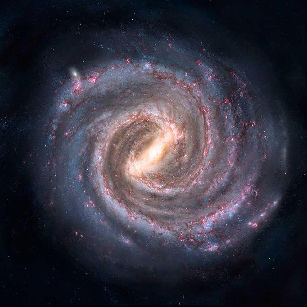 галактика, Млечный путь, картинка, рисунок, иллюстрация, центр