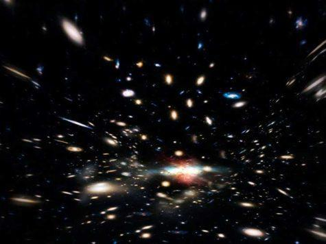 иллюстрация, вселенная, галактики, космос, пространство, звезды
