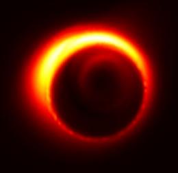 Чёрная дыра, Стрельца А*, симуляция, Млечный Путь, центр галактики