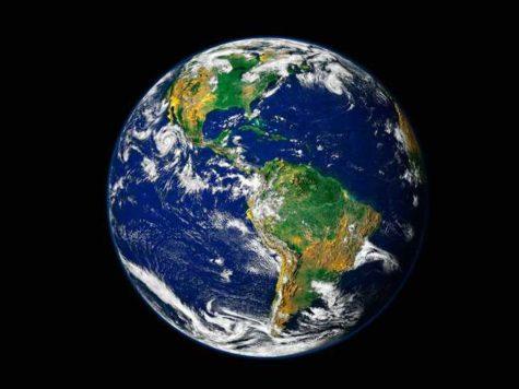 Земля, планета, вид из космоса, океаны, материки, континенты, облака