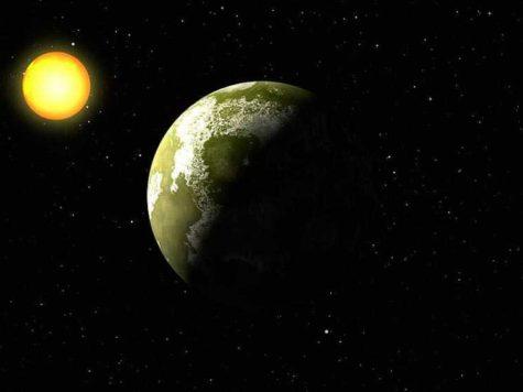 Звезда, планета, космос, пространство, иллюстрация