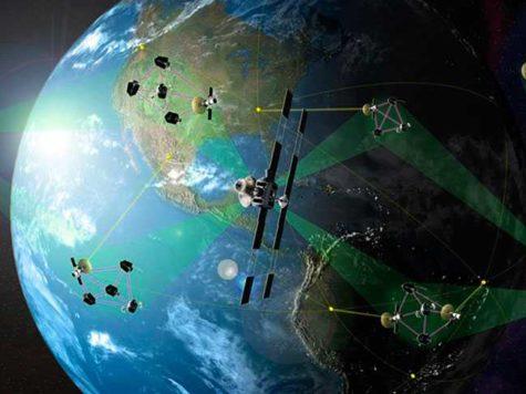 Земля, планета, космос, искусственные спутники, сателлиты, орбита, космический мусор, иллюстрация