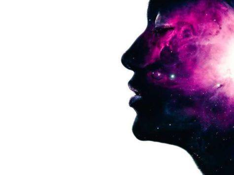 вселенная, космос, пространство, галактики, звезды, туманности, человек, пространство, тайна, иллюстрация