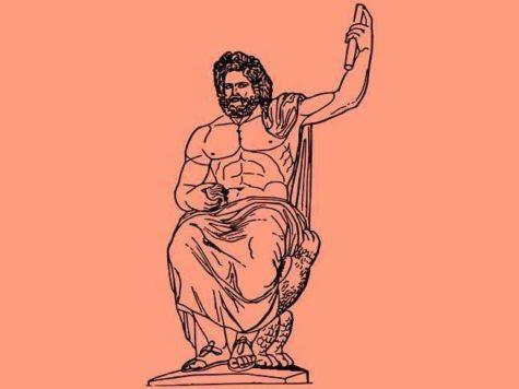 Бог, Юпитер, древнеримская мифология, иллюстрация
