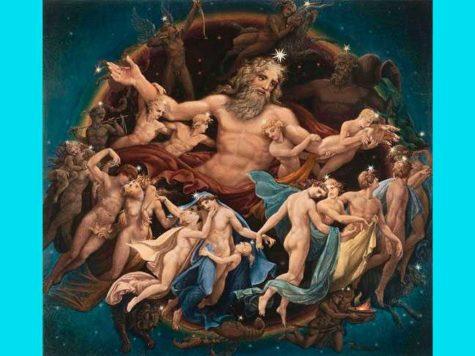 Бог, Уран, древнегреческая мифология, иллюстрация, картина, изображение