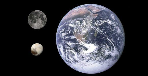 Плутон, Земля, планета, карликовая планета, Луна, спутник, фото, сравнение размеров