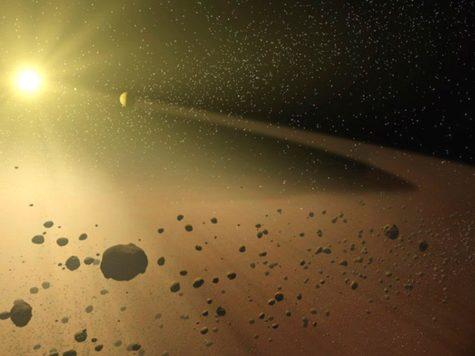 Иллюстрация, Пояс астероидов, Солнце, Солнечная система, космос, пространство, звезды