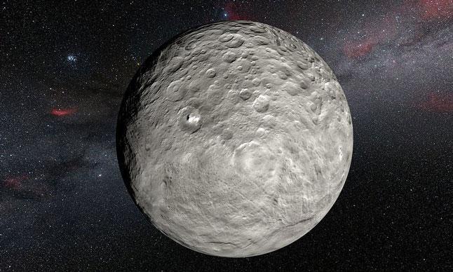 Карликовая планета, Церера, поверхность, иллюстрация, НАСА, космос, звезды, пространство