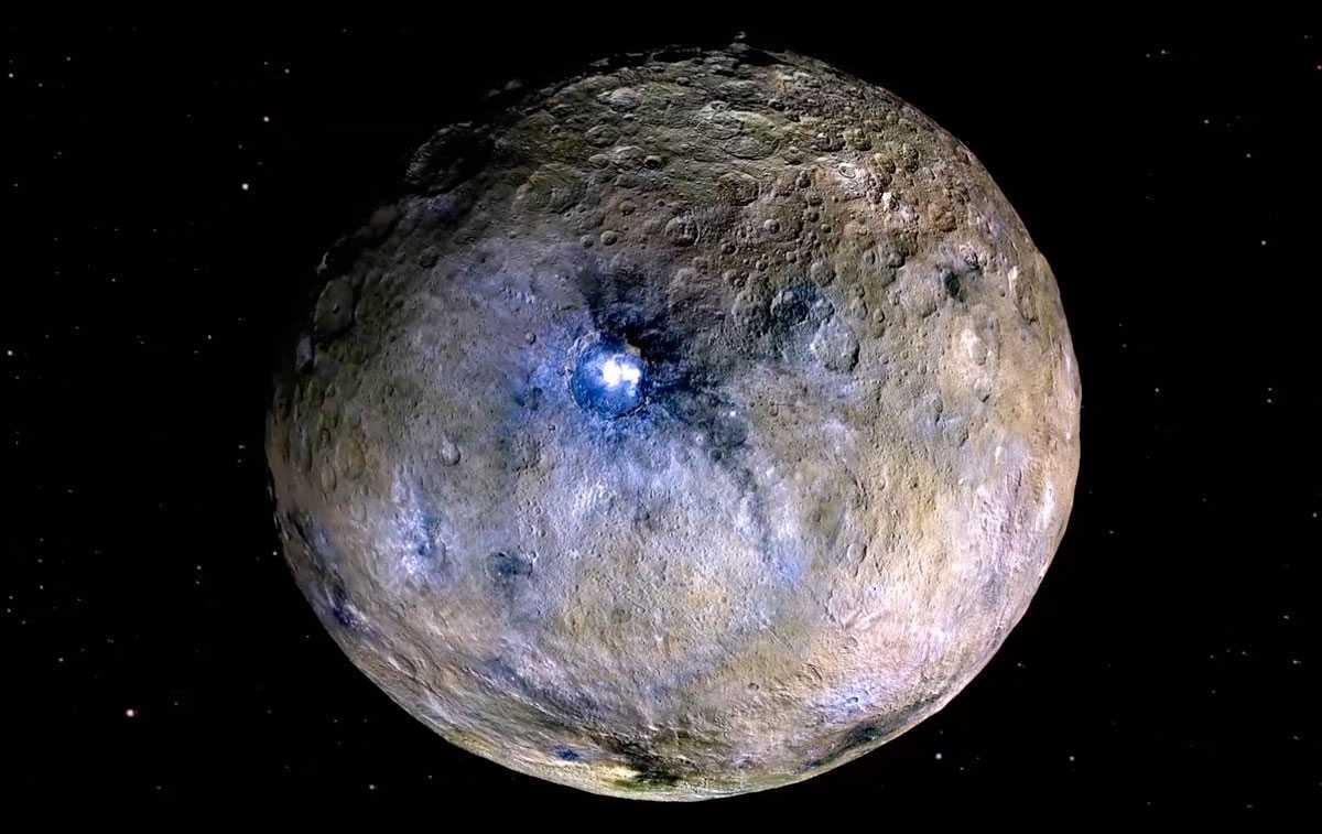 Карликовая планета, Церера, поверхность, кратер Оккатор, фото, НАСА, космос, звезды