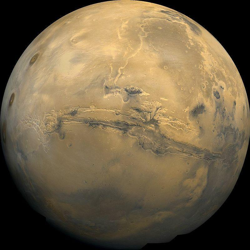 Долина Маринер, система каньонов, Марс, рельеф, планета